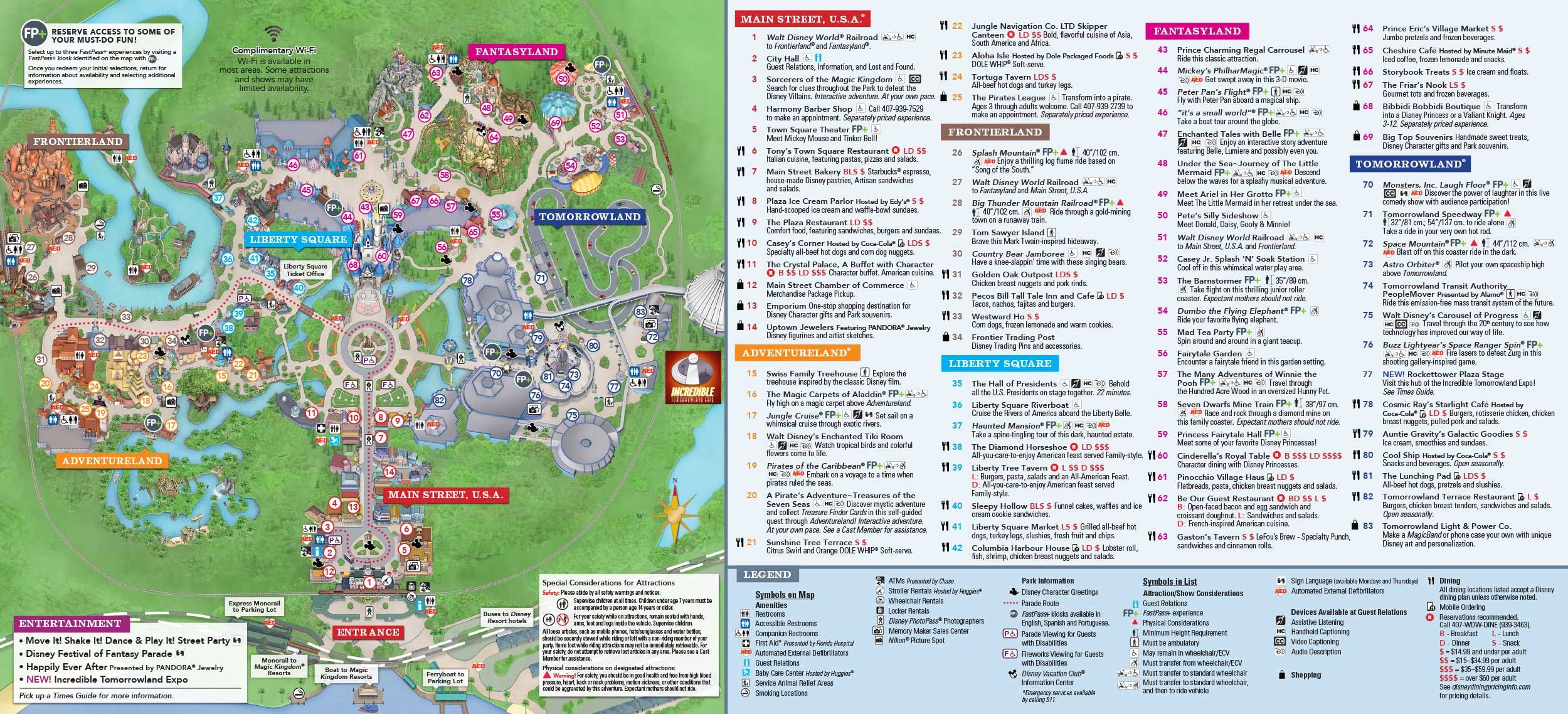 photograph relating to Printable Magic Kingdom Maps known as Magic Kingdom Park map Disney within just 2019 Disney environment map
