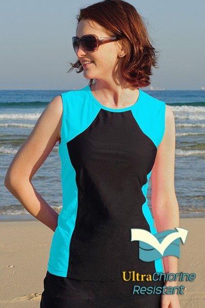1beab08e15b99 Tidal Tank Sporty Sleeveless Swim n' Gym Top #hydrochic #summerfun #beyou