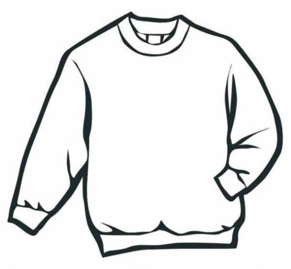 Line Art Elementary : Sweater winter clothes coloring page art ed