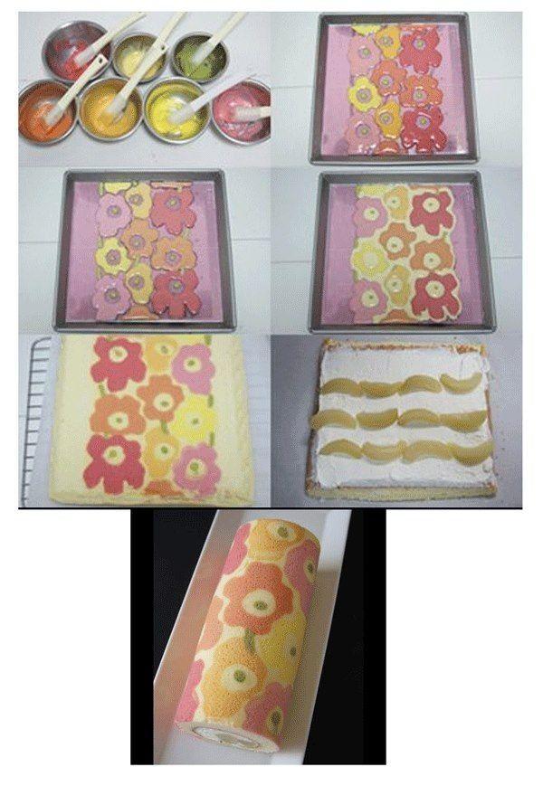 Romantické pečení: Malované rolády #rollcake