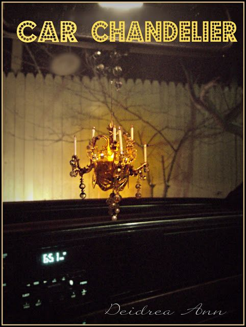 Mini chandelier made out of a tea light and recycled jewelry mini chandelier made out of a tea light and recycled jewelry glamping aloadofball Image collections