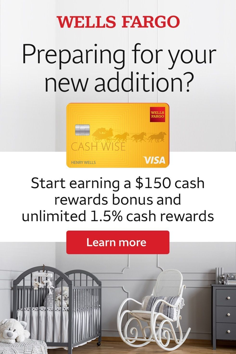 Apply for and use your Wells Fargo Cash Wise Visa Card when getting ready for