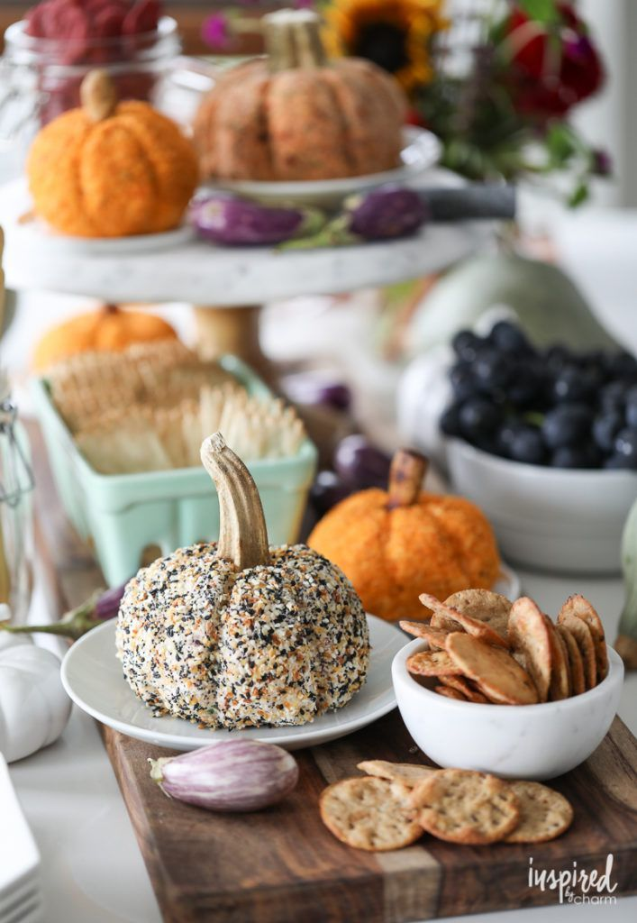 Everything Bagel Cheeseball and Sun-Dried Tomato Cheeseball   Inspired by Charm - -