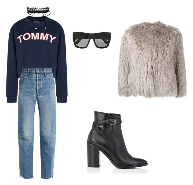 """""""Untitled #281"""" by julieselmer on Polyvore featuring Tommy Hilfiger, Vetements, Barneys New York, Maison Margiela, Gucci and Fallon"""