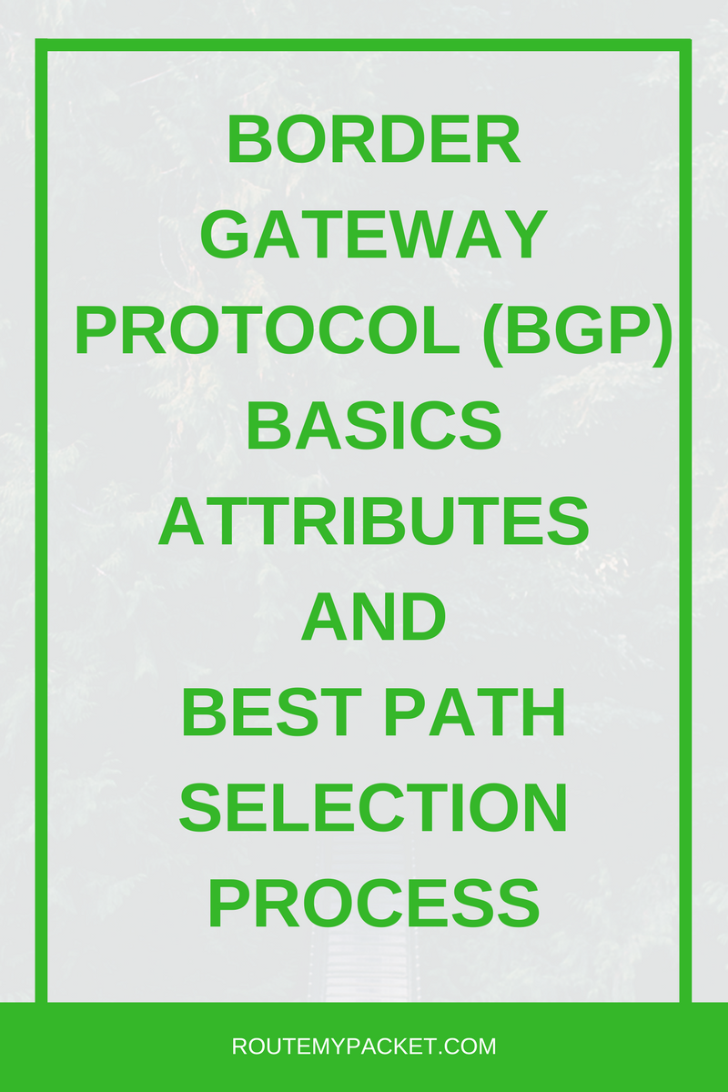 Learn about Border Gateway Protocol (BGP) along with it's