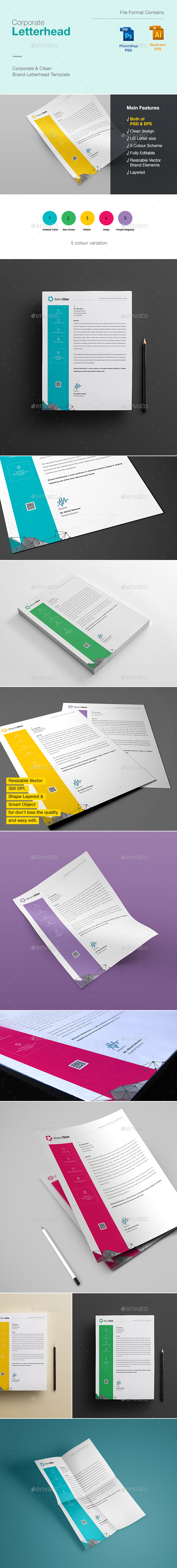 Letterhead design template psd vector eps letterhead design letterhead by graphicartist invoice designletterhead designpsd templatesprint spiritdancerdesigns Image collections