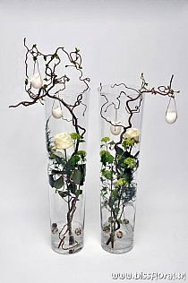 Weihnachtsdeko hohe vase