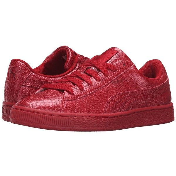 PUMA Basket Future Minimal (Barbados Cherry) Women's Basketball Shoes ($53)  ❤ liked