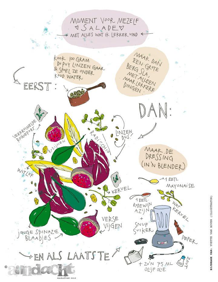 recept met aandacht door: yvette van boven (illustrator
