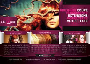 Cr ation de flyers pour coiffeur coiffeuse et salon de coiffure - Creation salon de coiffure ...