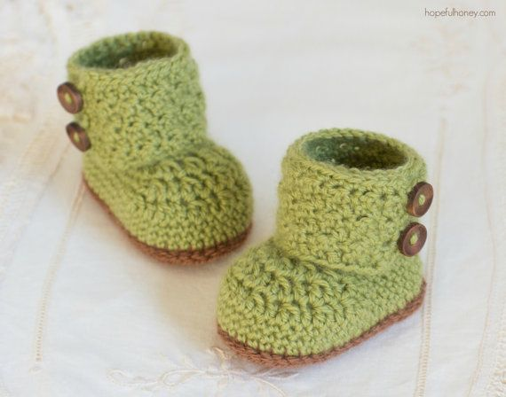 CROCHET PATTERN - Cashmere Avocado Baby Booties | 4baby: cloth ...