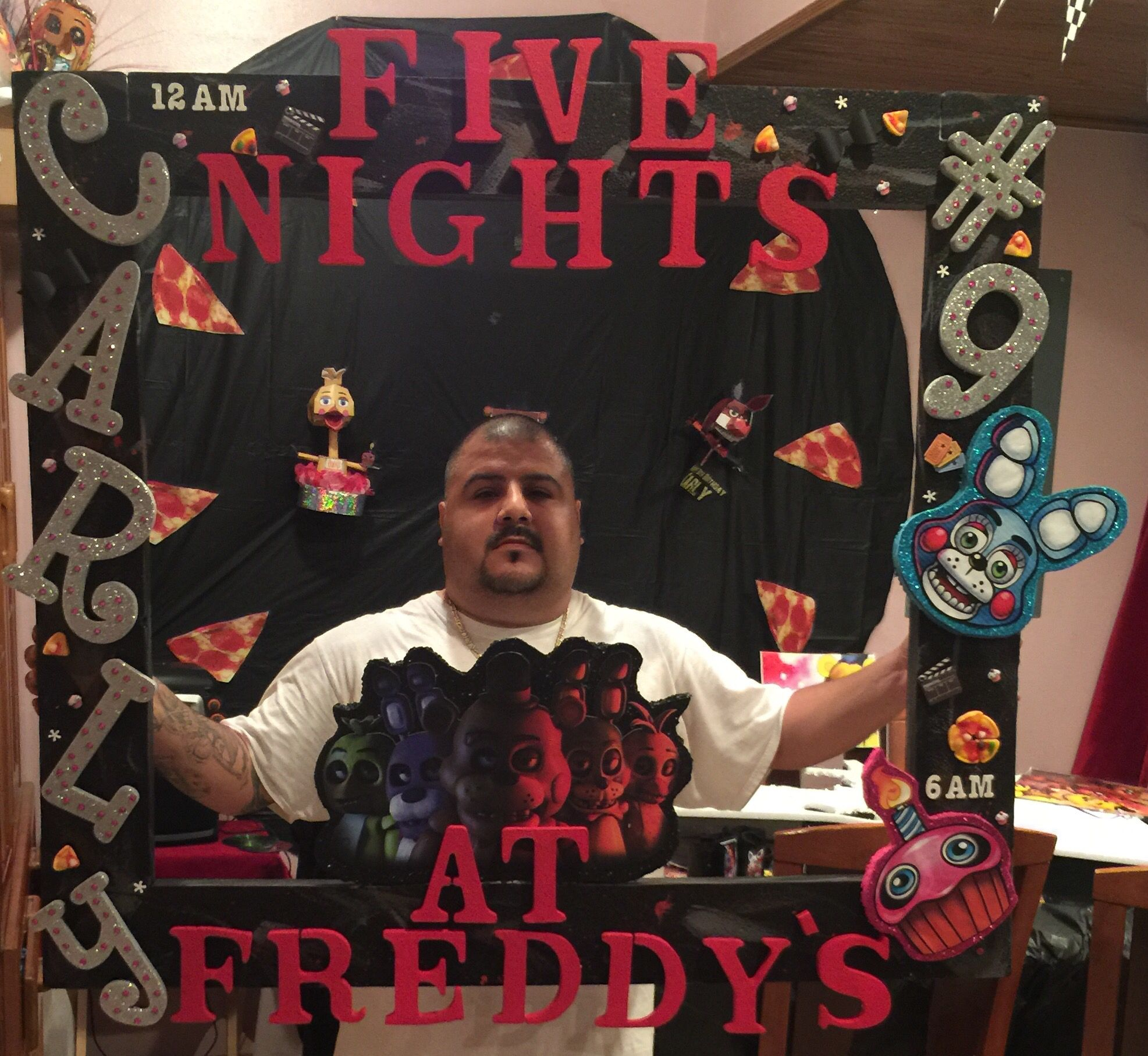 Ideas five nights at freddy party - Five Nights At Freddy One Of A Kind Custom Made Picture Frame