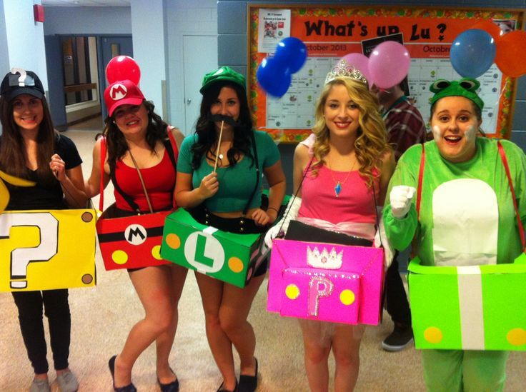 mystery box mario luigi peach and yoshi - Girl Mario And Luigi Halloween Costumes