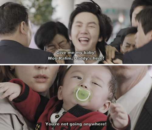 Baby and i - airport scene (i loved this scene) | K-Drama Fever