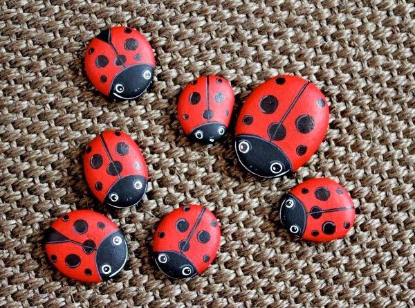 Recopilaci n de piedras pintadas para decorar jardines - Piedras para jardines ...