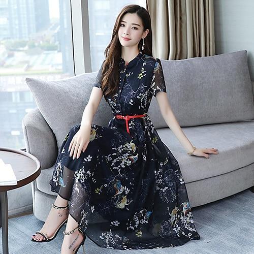 8fce2e6df01 Summer Vintage Chiffon Floral Dress Plus size Maxi sundress Boho 2018  Elegantrricdress