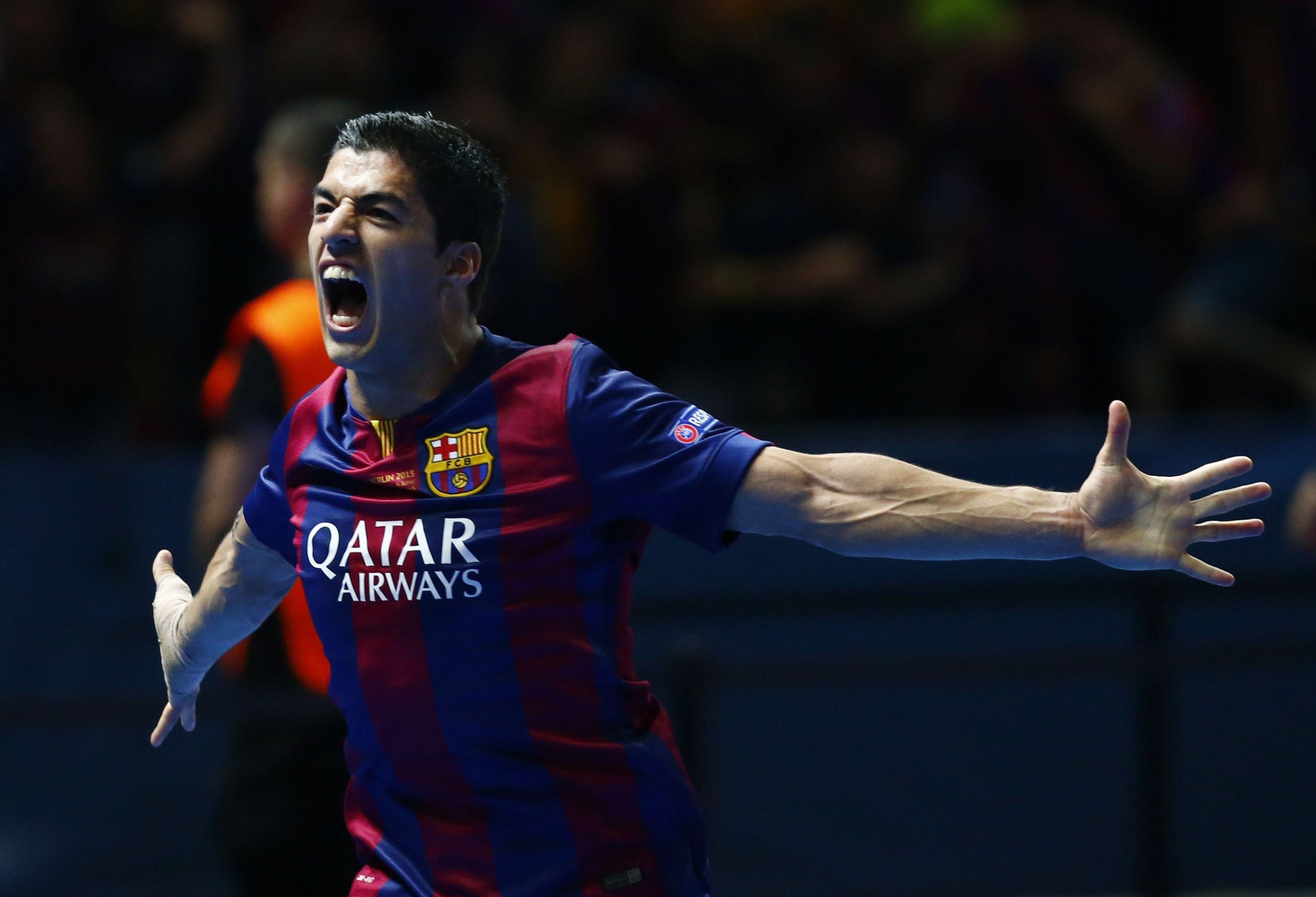 ¡Con qué rabia celebró Suárez el segundo gol del Barcelona!  http://www.rtve.es/champions