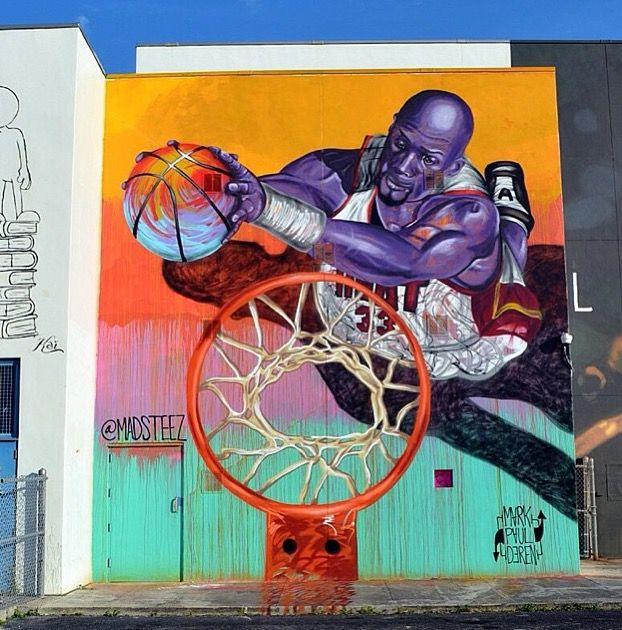 Basketball Mural by Madsteez in Miami, 12/14 (LP) | Murals street ...
