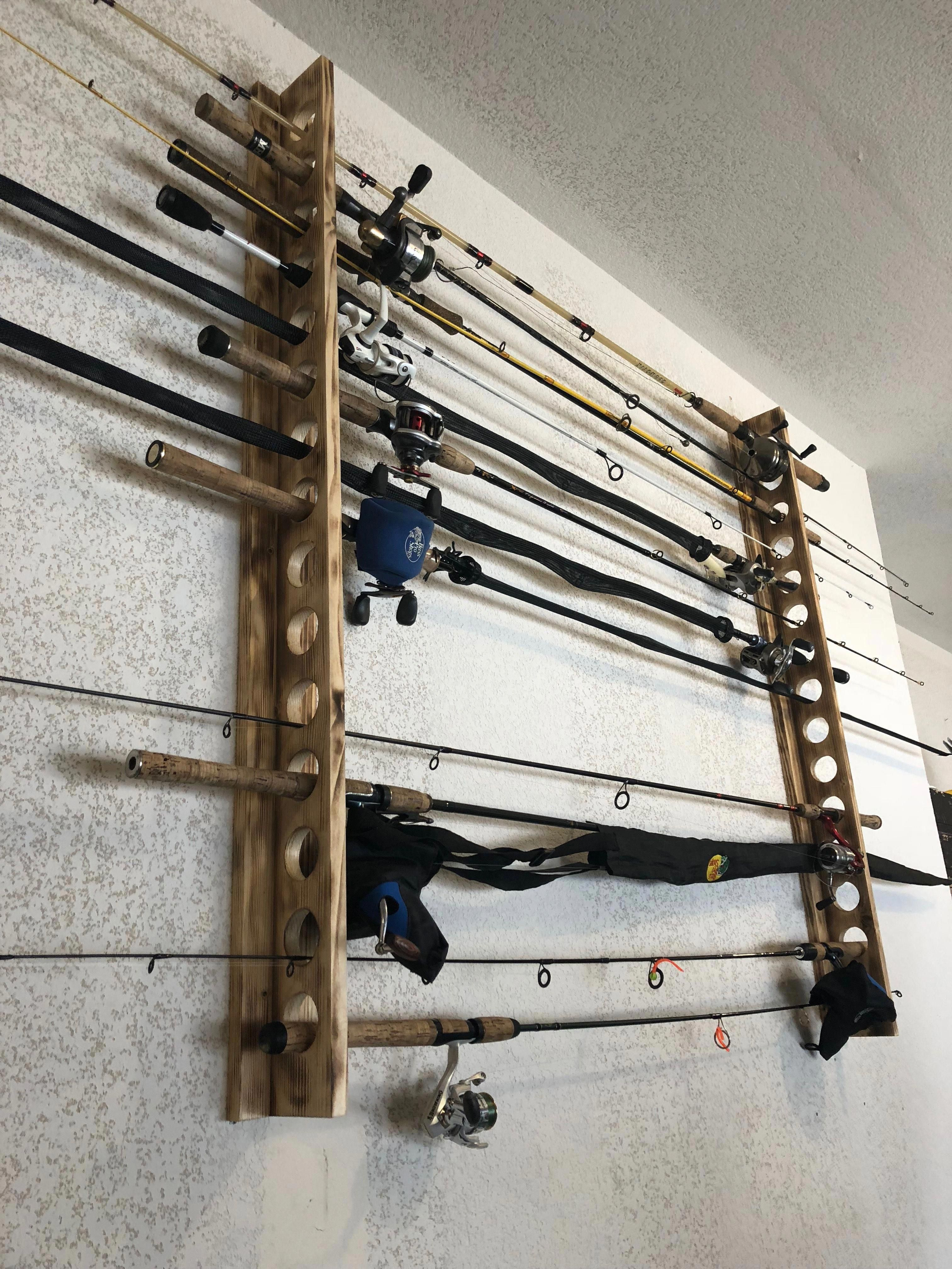 Fishing Rod Holder 1 Hr To Complete Fishingrodstorage Fishing Rod Holder Fishing Rod Storage Fishing Rod Rack