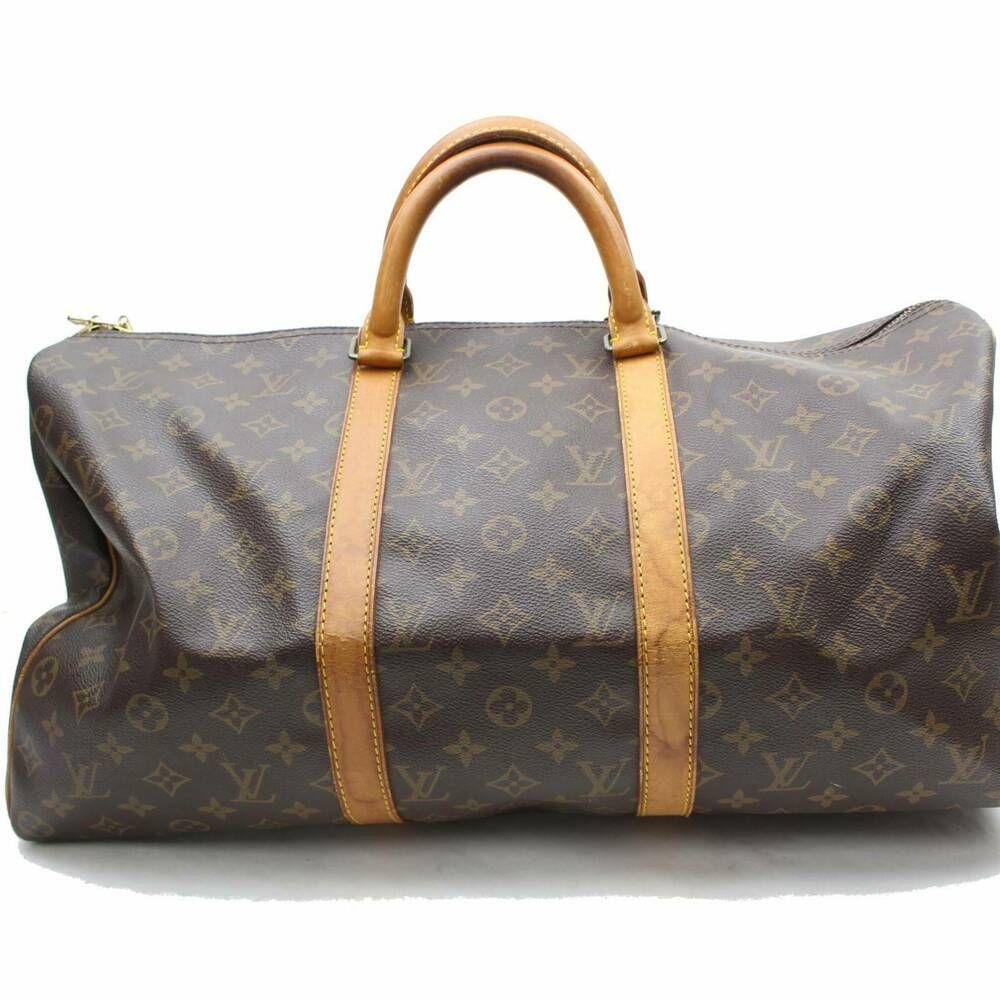 70d246d68b7 Authentic Louis Vuitton Boston Bag Keepall 50 M41426 Browns Monogram ...