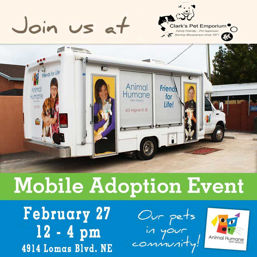 Join Us At Clark S Pet Emporium For Our Mobile Adoption Event At On February 27 From 12 4 Pm Meet Your Perfect Pet On Moby Then Fin Event Adoption Pet Store