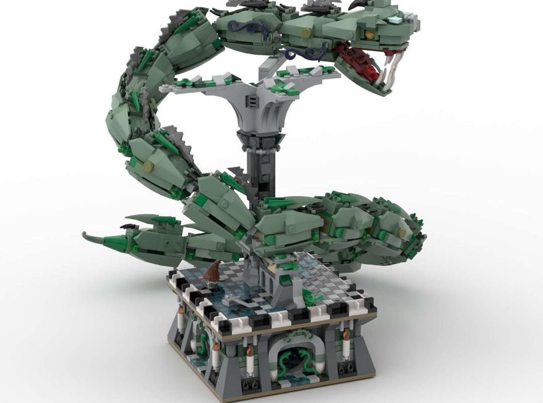 Lego Ideas On Instagram Creatures The Basilisk From Harry Potter And The Chamber Of Secrets Is Built Wit Lego Harry Potter Harry Potter Advent Calendar Lego