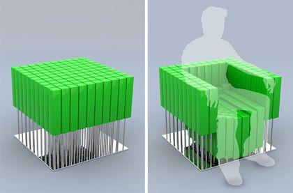 Le Designer Portugais Alessandro Beda A Cree Cette Chaise Modulable En Sinspirant De La LC2 Petit Confort Concu Par Celebre Corbusier