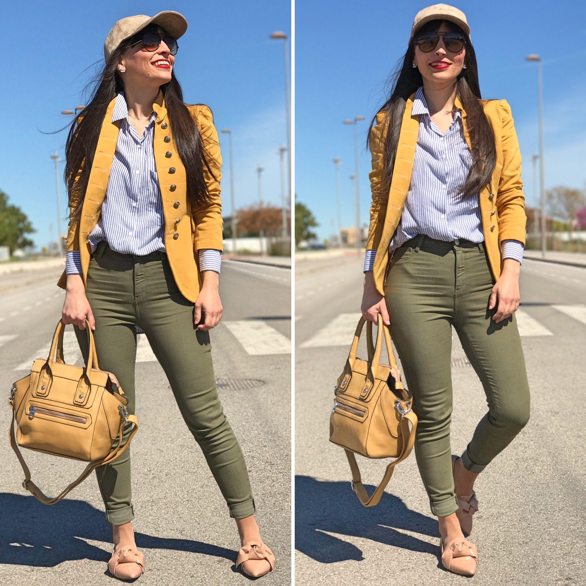 osma brand - Temporada: Primavera-Verano - Tags: look, ootd, fashion ,streetstyle, lifestyle, moda - Descripción: look en tonos mostaza con nuevo bolso de osma brand #FashionOlé