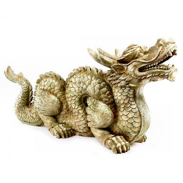 Large Chinese Dragon Garden Ornament Statue Chinese Dragon Dragon Statue Dragon Garden