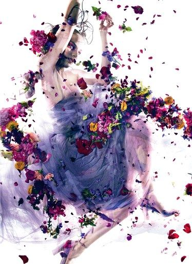 Adrien Pinault's makeup work in 'Holy Flowers' Dazed & Confused, Oct 2012