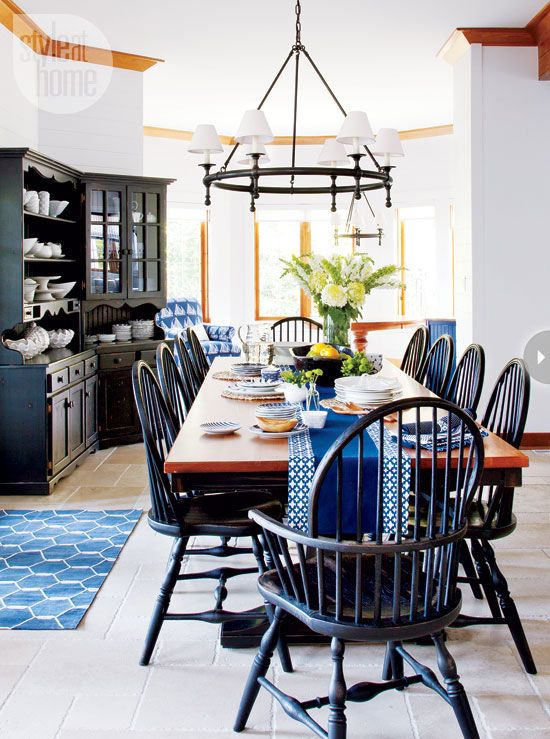 Coastal Spacious Dining RoomOpen To The Adjacent Kitchen