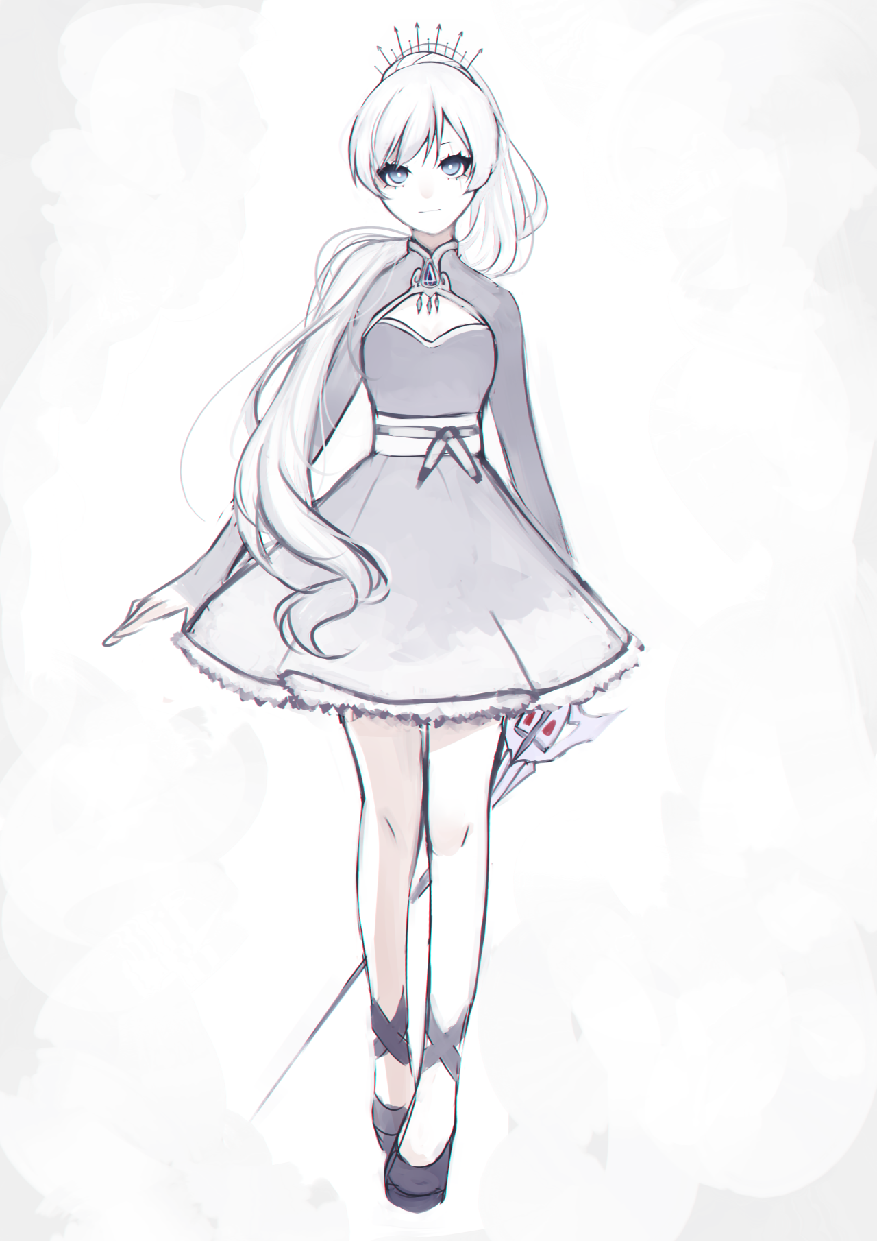Weiss Schnee Full 2153070 Png 1280 1810 Rwby Fanart Anime Outfits Rwby