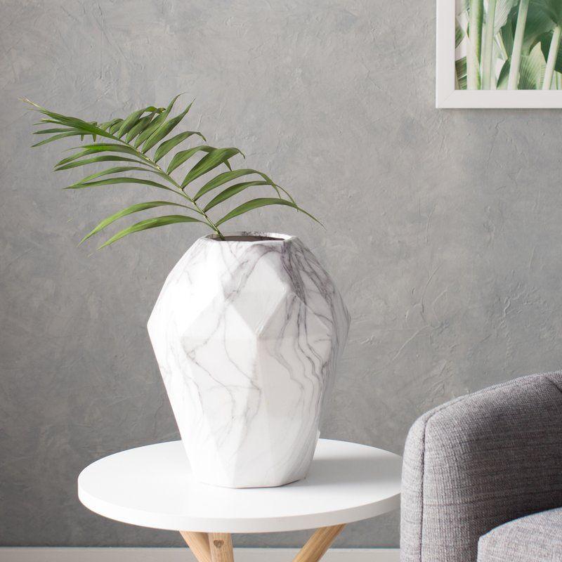 Dorfman Ceramic Marble Table Vase Table Vases Vase Grey Vases
