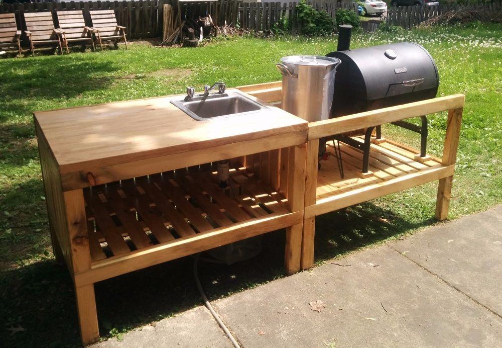 Astounding Pallet Outdoor Kitchen Furniture Wood Pallets Diy Outdoor Kitchen Backyard Kitchen