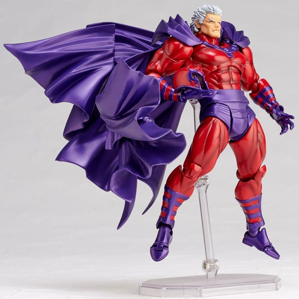 Marvel No.006 MAGNETO X-men Action Figure Amazing Revoltech Kaiyodo Ver Doll Toy