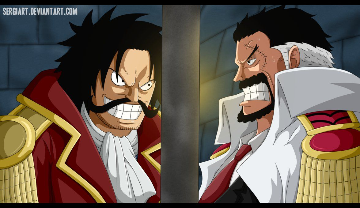 gol d roger gold roger pirate king and monkey d garp protect