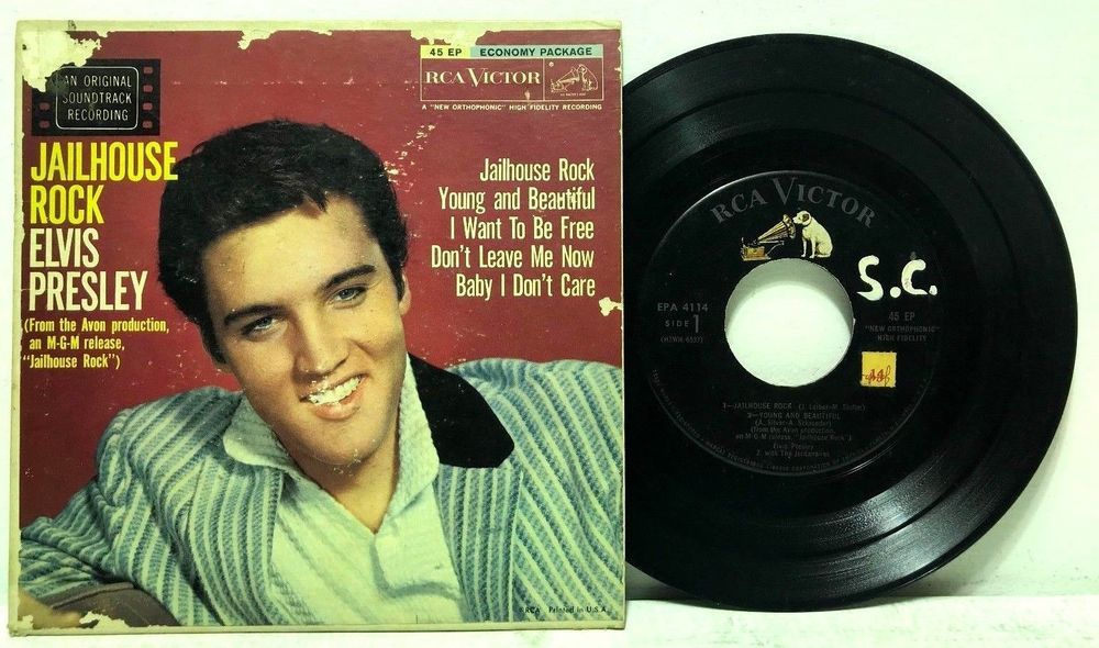 Elvis Presley Jailhouse Rock 45 Ep Rca Victor 4114 Picture