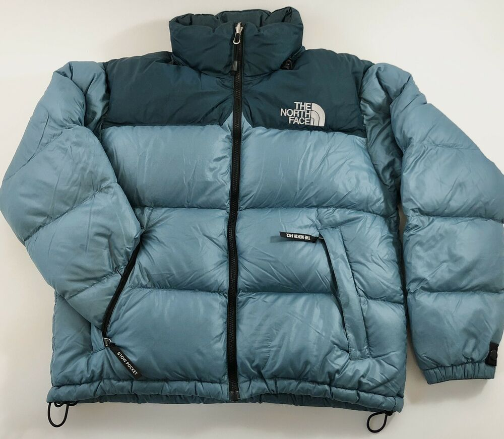 The North Face Jacket Women S Medium Nuptse Goose Down 700 Teal Stow Pocket Hood T North Face Puffer Jacket North Face Nuptse Jacket North Face Jacket Women S [ 871 x 1000 Pixel ]