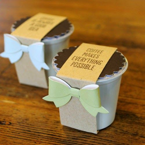 Let S Make A Card Coffee Pod Favors Coffee Pods Crafts Coffee Gifts Coffee Pods Gift