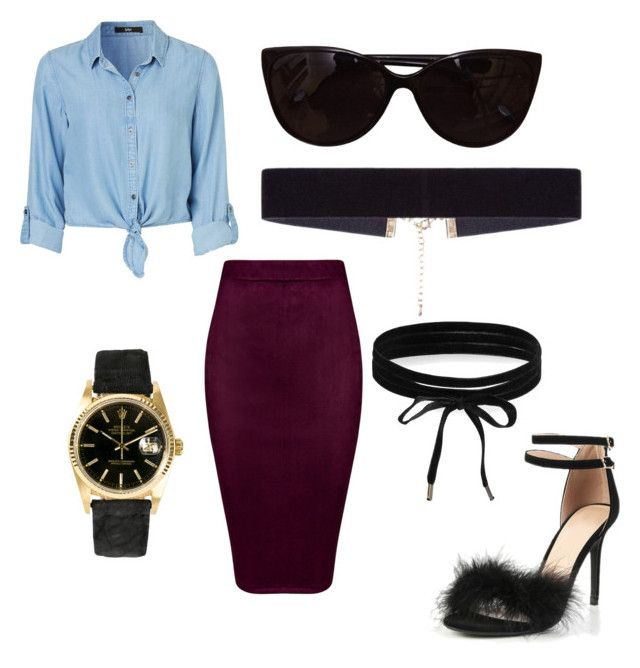 """""""Untitled #8"""" by xqueen-lynnx on Polyvore featuring Boohoo, Rolex, 8 Other Reasons and Tiffany & Co."""