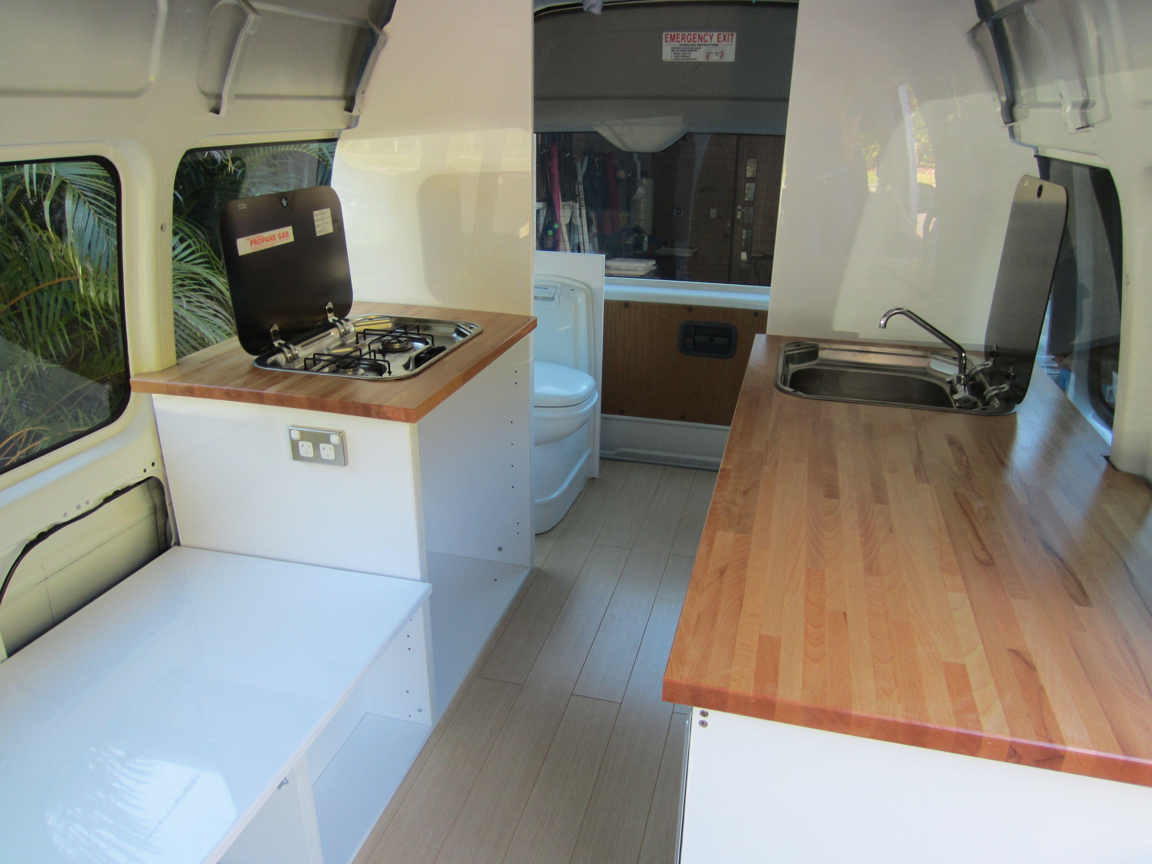 Creating a campervan kitchen campervan conversion chevy for Campervan kitchen ideas