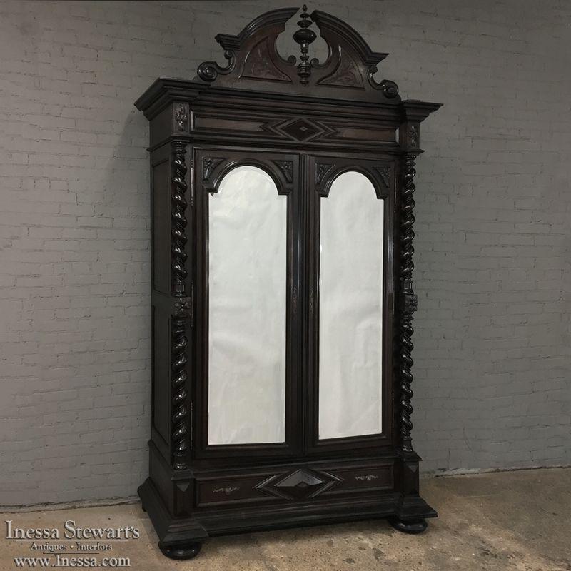 19th century french napoleon iii period henri ii style armoire