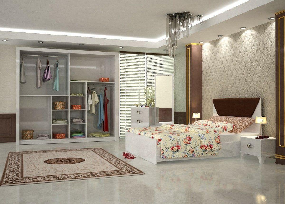 Kelebek Eko Bedroom Furniture Set White Turkey Wholesale 3