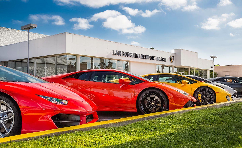 Lamborghini Newport Beach Lot View Lamborghini Dealership Lamborghini Car Dealership