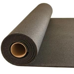 Greatmats Plyometric Black 4 Ft X 10 Ft X 0 314 In Gym Rubber Floor Roll Pr8mm410b The Home Depot Gym Flooring Rubber Home Gym Flooring Gym Flooring