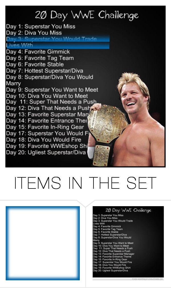 """""""Day 3: Chris Jericho ! (Read Description)"""" by wieldy on Polyvore featuring art"""