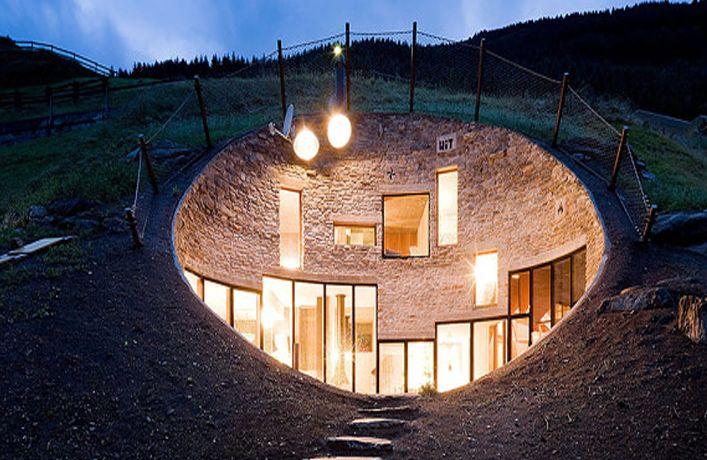 Underground Home Design Swiss Mountain House