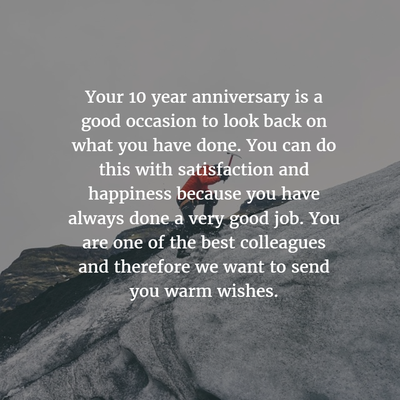 Work Anniversary Quotes For 10 Years Enkiquotes Work Anniversary Quotes Anniversary Quotes 10 Year Anniversary Quotes