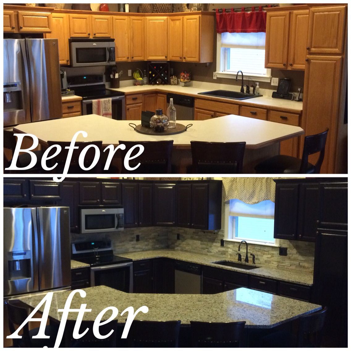 Java Gel Stain Kitchen Makeover Lightly Sand Paint On 2 Coats Java Gel Stain Using Paint Brush Apply Java Gel Stain Kitchen Java Gel Stains Kitchen Makeover