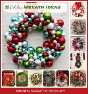 Round up of 11 great Holiday wreath ideas
